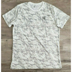 Under Armor Mens Heat Gear Fitted Camo White Gray